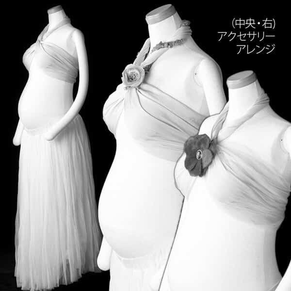 ドレッシー(布巻き)白+アクセサリー